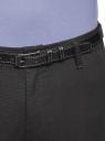 Брюки-чиносы с ремнем oodji для мужчины (черный), 2L150151M/48640N/2925O
