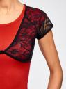 Жакет-болеро кружевной на пуговице oodji для женщины (черный), 14607001-1/24438/2900N