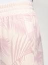 Брюки хлопковые с поясом-резинкой oodji для женщины (бежевый), 16701080/47885N/334BF