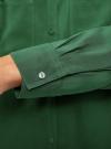Блузка базовая из вискозы с карманами oodji #SECTION_NAME# (зеленый), 11400355-4/26346/6E00N - вид 5