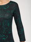 Платье трикотажное с вырезом-капелькой на спине oodji #SECTION_NAME# (черный), 24001070-5/15640/2962F - вид 5
