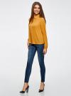 Блузка из струящейся ткани oodji #SECTION_NAME# (оранжевый), 11400368-3/32823/5200N - вид 6