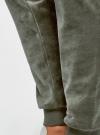 Брюки спортивные на завязках oodji #SECTION_NAME# (зеленый), 16701051B/47883/6800N - вид 4