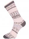 Комплект носков из 3 пар oodji для женщины (разноцветный), 57102905T3/47613/6 - вид 4