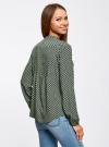 Блузка вискозная с отстрочками на груди oodji #SECTION_NAME# (зеленый), 21411121/47075N/6D12E - вид 3