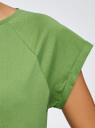 Футболка хлопковая базовая oodji для женщины (зеленый), 14707001-4B/46154/6200N