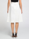 Юбка А-образного силуэта с накладными карманами oodji для женщины (белый), 11600420/45374/1200N