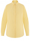 Рубашка хлопковая свободного силуэта oodji #SECTION_NAME# (желтый), 13L11024/49806/5210S