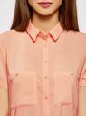 Блузка из вискозы с нагрудными карманами oodji #SECTION_NAME# (оранжевый), 11400391-4B/24681/5400N - вид 4