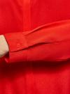 Блузка с декором на воротнике oodji #SECTION_NAME# (красный), 11403172-3/31427/4500N - вид 5