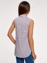Топ хлопковый с рубашечным воротником oodji для женщины (розовый), 14901416-1B/12836/406BE