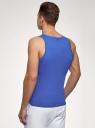 Майка базовая oodji для мужчины (синий), 5B700000M/44135N/7503N
