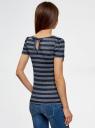 Блузка трикотажная с коротким рукавом oodji для женщины (синий), 11301384-2/45274/7900N