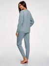 Пижама хлопковая с брюками oodji #SECTION_NAME# (синий), 56002224/46154/7079P - вид 3