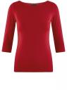 Футболка базовая с рукавом 3/4 oodji для женщины (красный), 24211001B/45297/4503N