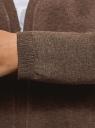 Кардиган без застежки с карманами oodji для женщины (коричневый), 63212589/45904/3900M