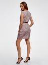 Платье принтованное из вискозы oodji #SECTION_NAME# (розовый), 11910073/26346/4B29E - вид 3