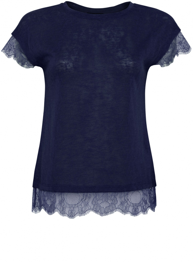 Трикотажная блузка oodji для женщины (синий), 11308090/35691/7900N