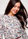 Платье вискозное с ремнем oodji #SECTION_NAME# (розовый), 21912001-2B/26346/4075F - вид 4