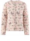 Куртка стеганая с круглым вырезом oodji #SECTION_NAME# (слоновая кость), 10204040-1B/42257/3041U