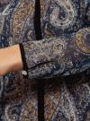 Блузка из струящейся ткани с контрастной отделкой oodji #SECTION_NAME# (синий), 11411059-2/38375/7933E - вид 5