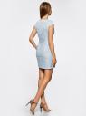 Платье трикотажное кружевное oodji для женщины (синий), 14001154/42644/7000L
