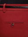 Брюки укороченные с ремнем oodji для женщины (красный), 21701094-1B/35589/4900N