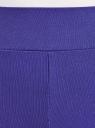 Легинсы хлопковые с лампасами oodji для женщины (фиолетовый), 18700058/47618/7829P