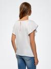 Блузка из вискозы с рукавами-крылышками oodji #SECTION_NAME# (белый), 11411106/45542/1200N - вид 3