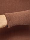 Водолазка хлопковая с пуговицами на горловине oodji #SECTION_NAME# (коричневый), 15E11022/48959/3700N - вид 5