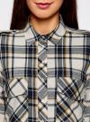 Рубашка в клетку с нагрудными карманами oodji #SECTION_NAME# (белый), 11411052-2/45624/1279C - вид 4
