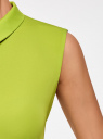 Блузка базовая без рукавов с воротником oodji #SECTION_NAME# (зеленый), 11411084B/43414/6A00N - вид 5