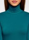 Водолазка хлопковая oodji для женщины (зеленый), 15E02001B/46147/6C01N