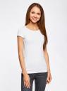Комплект приталенных футболок (2 штуки) oodji для женщины (белый), 14701005T2/46147/1000N