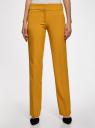 Брюки классические со стрелками oodji для женщины (желтый), 11700214-1B/14917/5700N