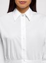 Рубашка хлопковая приталенная oodji для женщины (белый), 13K00009-1/26357/1000N