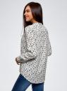 Блузка вискозная А-образного силуэта oodji #SECTION_NAME# (белый), 21411113B/42540/1229F - вид 3