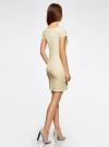 Платье из фактурной ткани с вырезом-лодочкой oodji #SECTION_NAME# (желтый), 14001117-11B/45211/5000N - вид 3