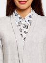Кардиган удлиненный со струящимися полами oodji для женщины (серый), 73212398/45722/2000M