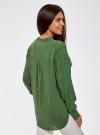 Блузка базовая из вискозы oodji #SECTION_NAME# (зеленый), 21412129-1/24681/6900N - вид 3