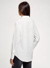 Блузка прямого силуэта с нагрудным карманом oodji #SECTION_NAME# (белый), 11411134B/46123/1229Q - вид 3