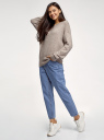 Джинсы mom fit с завышенной посадкой oodji для женщины (синий), 12105110/45254/7500W