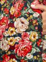 Платье хлопковое без рукавов oodji для женщины (разноцветный), 11913058/13175N/7919F