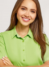 Блузка вискозная с короткими рукавами oodji #SECTION_NAME# (зеленый), 11411137B/14897/6B00N - вид 4