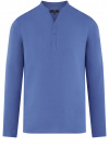 Рубашка льняная без воротника oodji #SECTION_NAME# (синий), 3B320002M/21155N/7500N