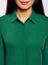 Блузка из струящейся ткани oodji #SECTION_NAME# (зеленый), 11400368-3/32823/6E00N - вид 4