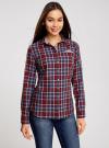 Рубашка принтованная хлопковая oodji #SECTION_NAME# (красный), 11406019/43593/4979C - вид 2