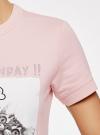 Платье свободного силуэта из фактурной ткани oodji #SECTION_NAME# (розовый), 14000162-7/47481/4019P - вид 5