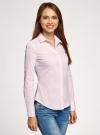Блузка приталенная в горошек oodji #SECTION_NAME# (розовый), 11403227/46079/1040G - вид 2