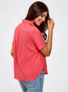 Блузка вискозная с короткими рукавами oodji #SECTION_NAME# (розовый), 11411137B/14897/4D00N - вид 3